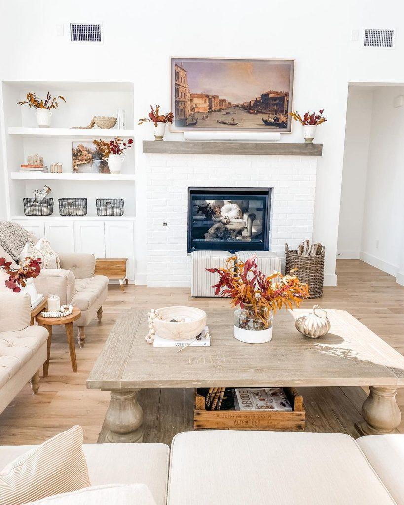 100 Amazing Rustic Farmhouse Design Interior Ideas Suitable For Fall Season 32