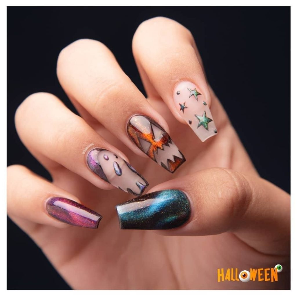 100 Easy Halloween Nails Art Ideas For Your Inspirations 12