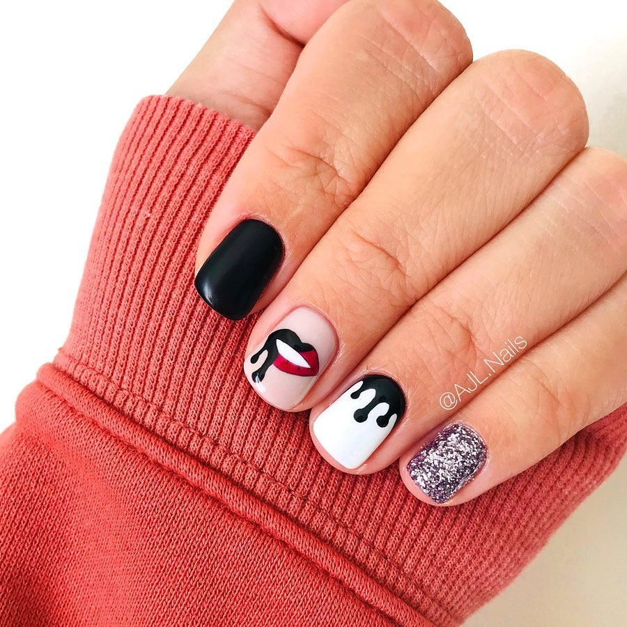 100 Easy Halloween Nails Art Ideas For Your Inspirations 21