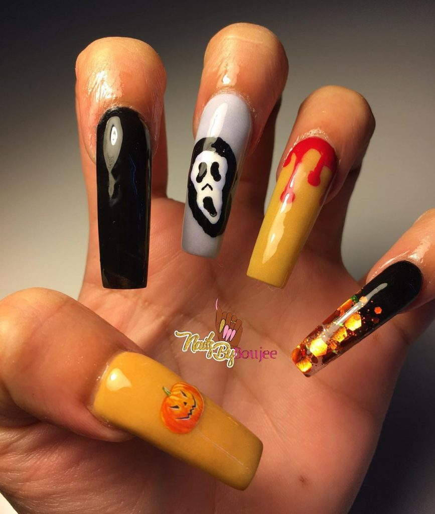 100 Easy Halloween Nails Art Ideas For Your Inspirations 26