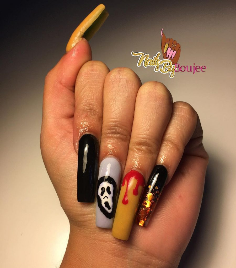 100 Easy Halloween Nails Art Ideas For Your Inspirations 39