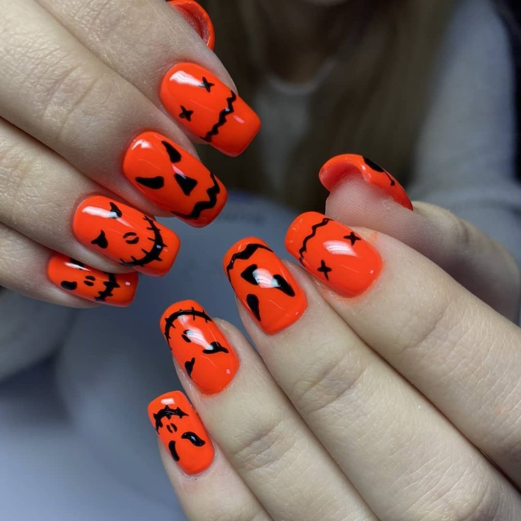 100 Easy Halloween Nails Art Ideas For Your Inspirations 46