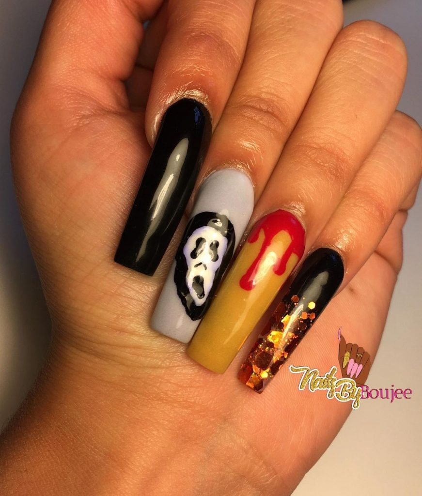 100 Easy Halloween Nails Art Ideas For Your Inspirations 47