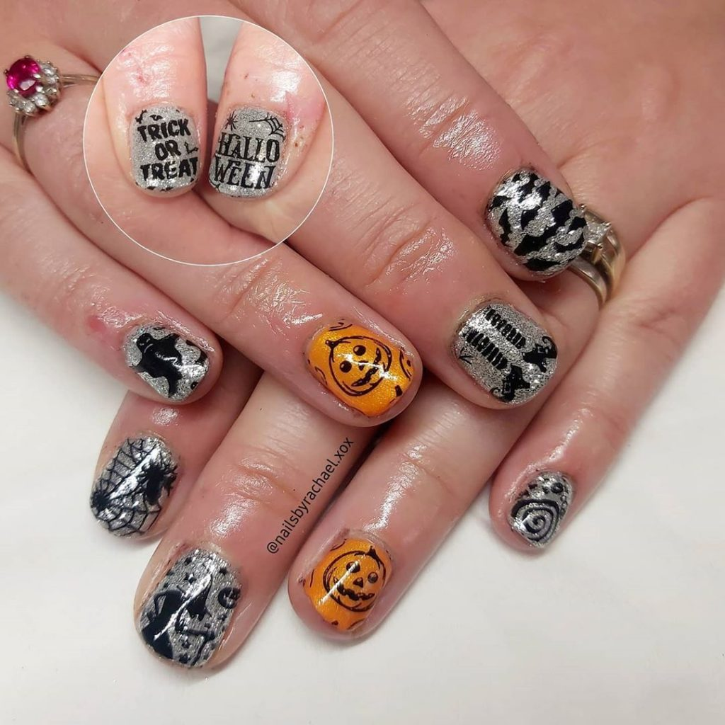 100 Easy Halloween Nails Art Ideas For Your Inspirations 48