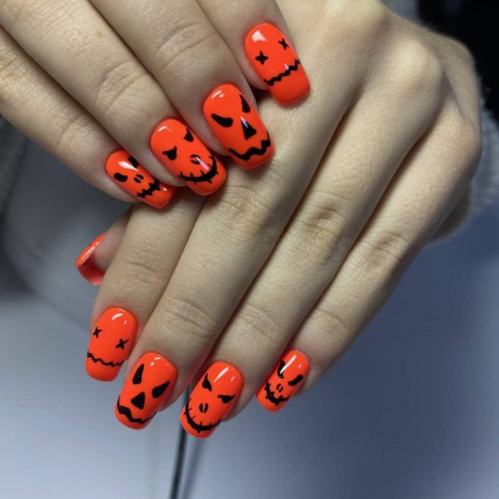 100 Easy Halloween Nails Art Ideas For Your Inspirations 49