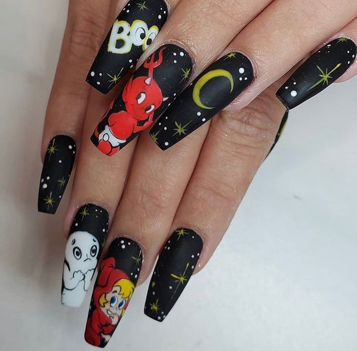 100 Easy Halloween Nails Art Ideas For Your Inspirations 66