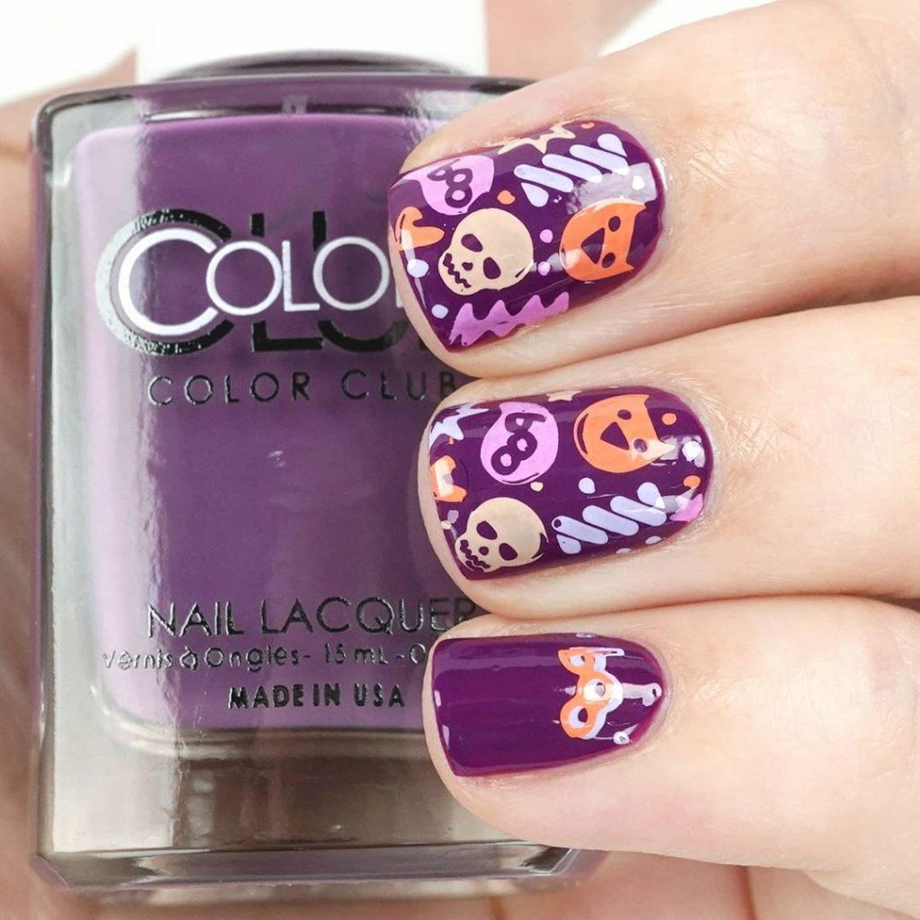 100 Easy Halloween Nails Art Ideas For Your Inspirations 67