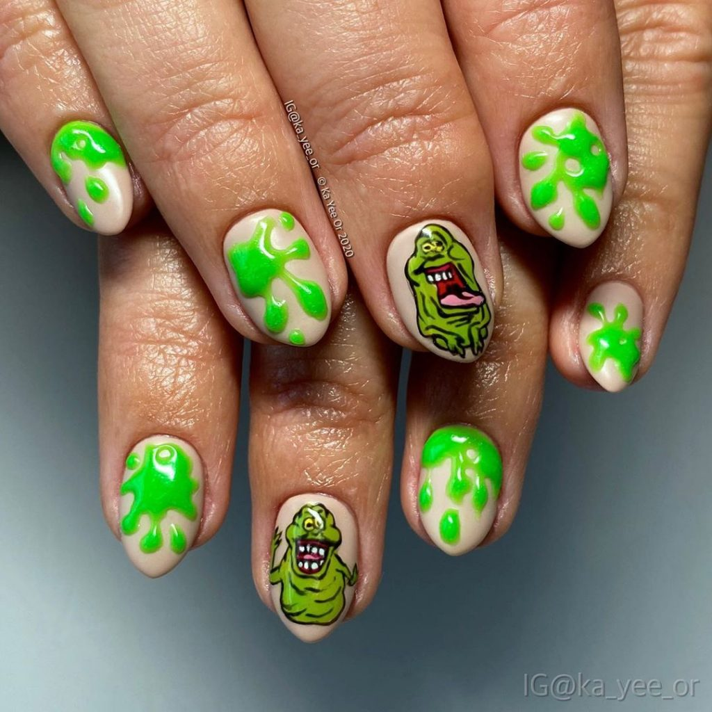 100 Easy Halloween Nails Art Ideas For Your Inspirations 68