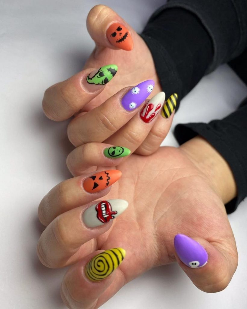 100 Easy Halloween Nails Art Ideas For Your Inspirations 9