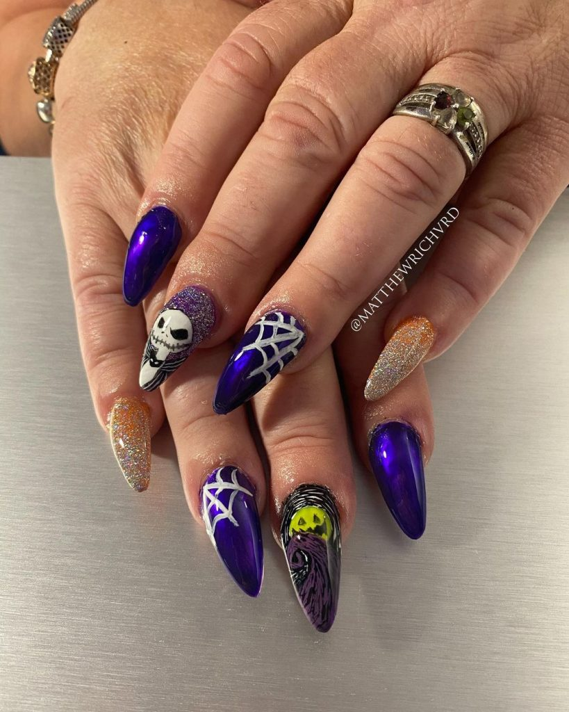 100 Easy Halloween Nails Art Ideas For Your Inspirations 95