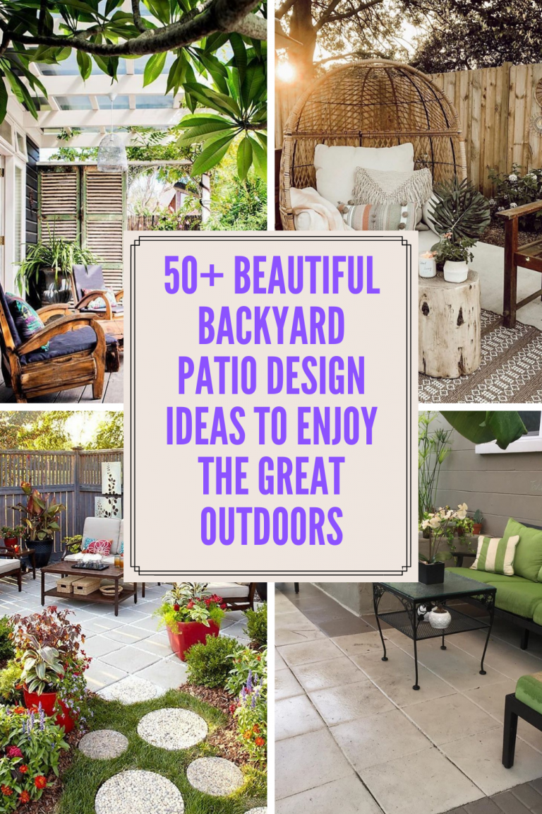 50+ Beautiful Backyard Patio Design Ideas To Enjoy The Great Outdoors