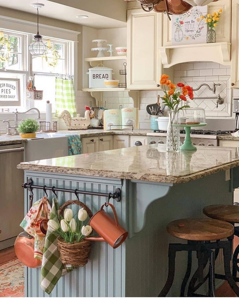 60 Timeless And Classics Country Farmhouse Kitchen Design Ideas 25