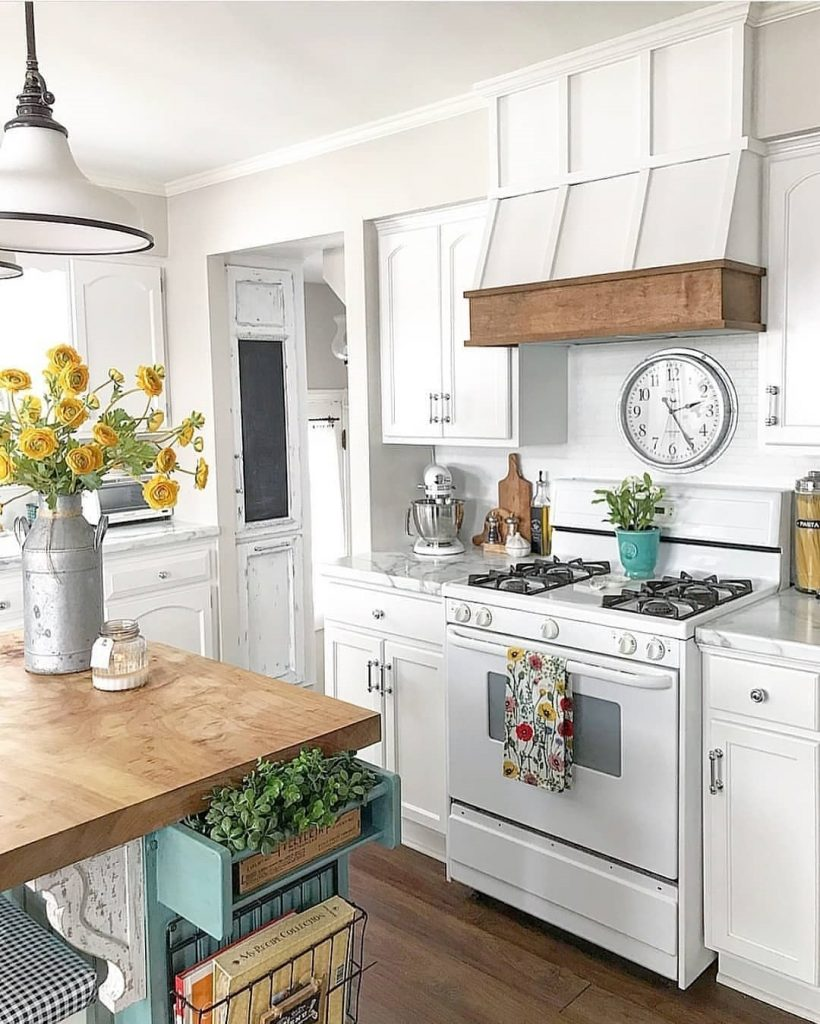 60 Timeless And Classics Country Farmhouse Kitchen Design Ideas 46
