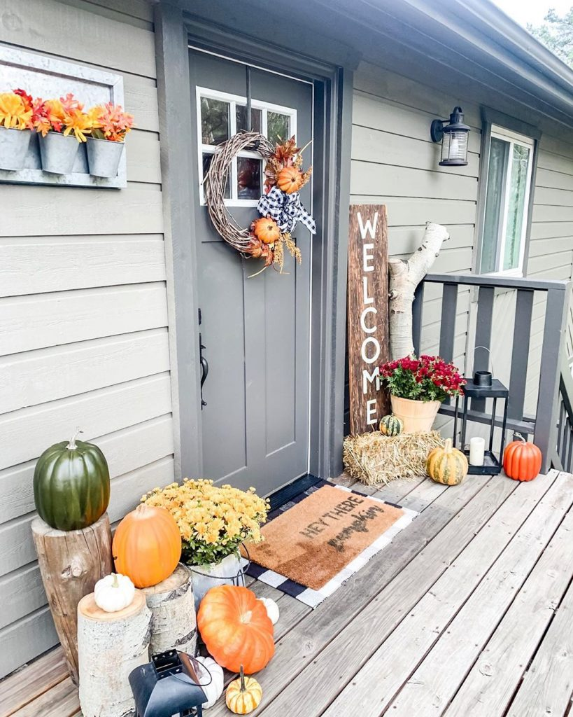 80+ Creative Fall Decoration Ideas With Pumpkins You Will Totally Love (26)