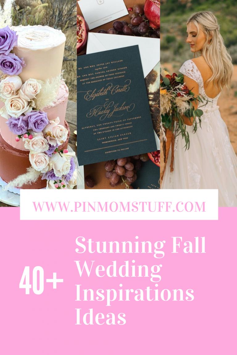 Stunning Fall Wedding Inspirations Ideas