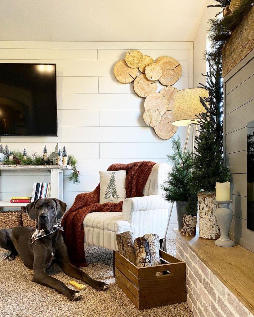 100 Cozy Farmhouse Christmas Decor Ideas To Makes Your Home Feel Warm 18