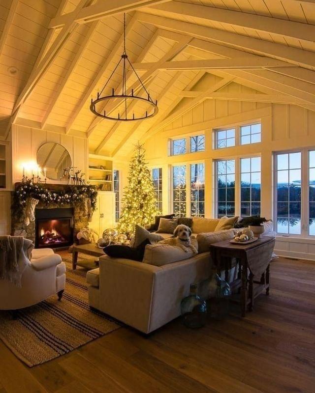 100 Cozy Farmhouse Christmas Decor Ideas To Makes Your Home Feel Warm 20