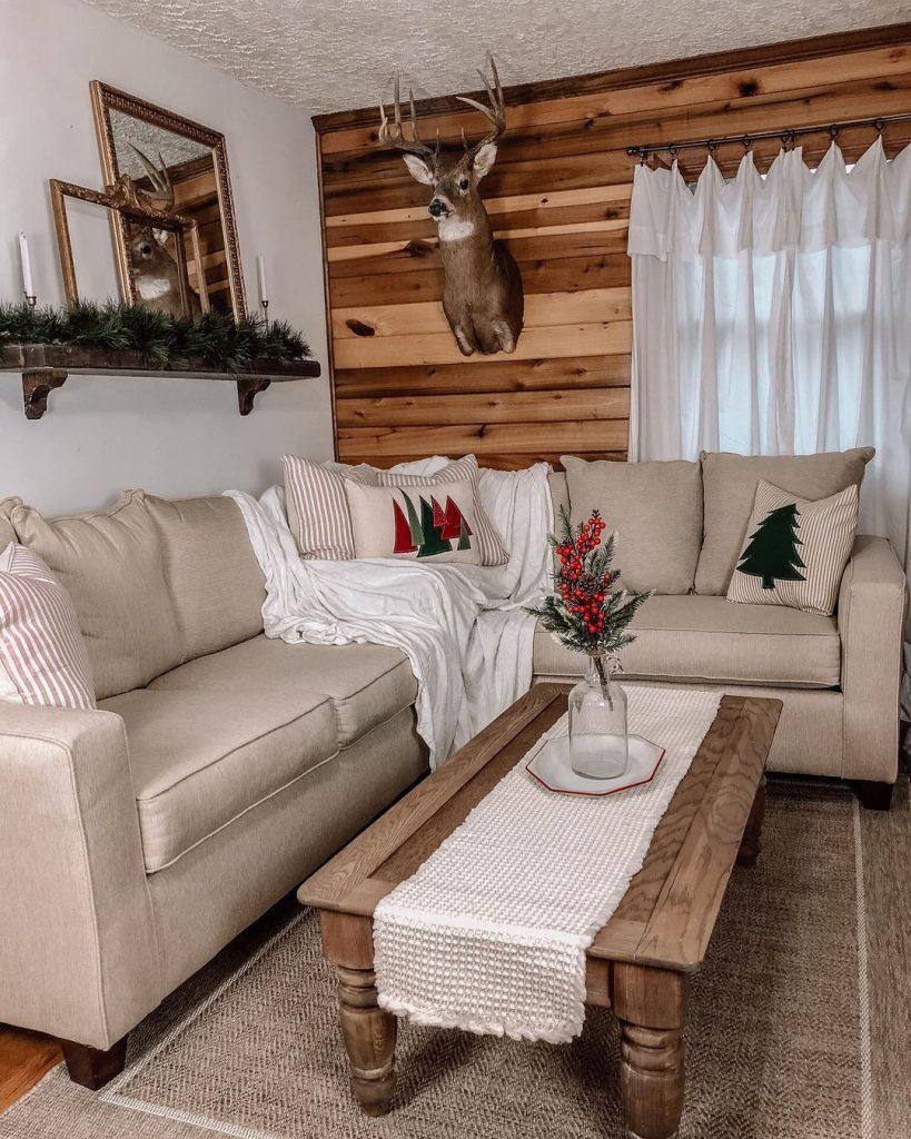 100 Cozy Farmhouse Christmas Decor Ideas To Makes Your Home Feel Warm 52
