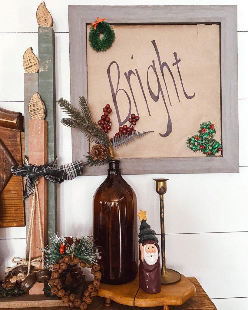 100 Cozy Farmhouse Christmas Decor Ideas To Makes Your Home Feel Warm 62