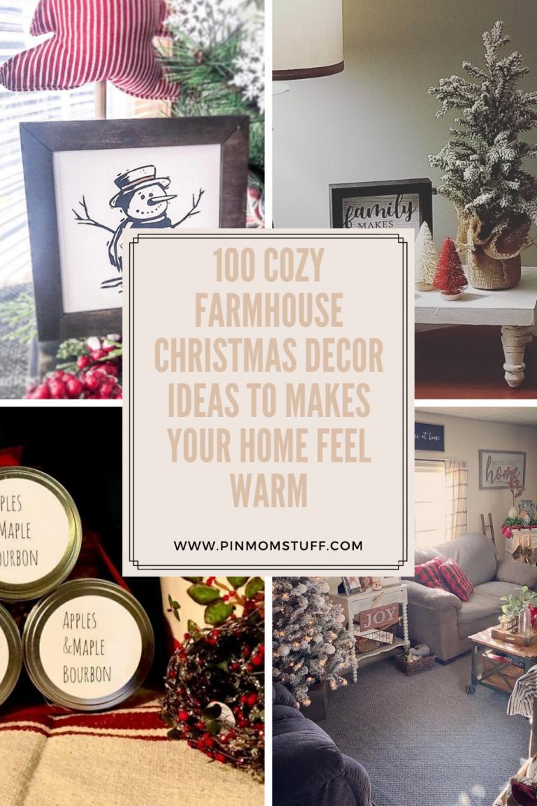 100 Cozy Farmhouse Christmas Decor Ideas To Makes Your Home Feel Warm