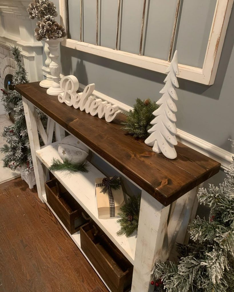 100 Cozy Farmhouse Christmas Decor Ideas To Makes Your Home Feel Warm 87
