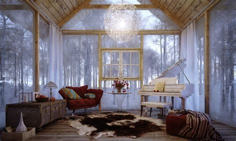 Attractive Winter Living Room Decoration Ideas For Warmth In The House 23