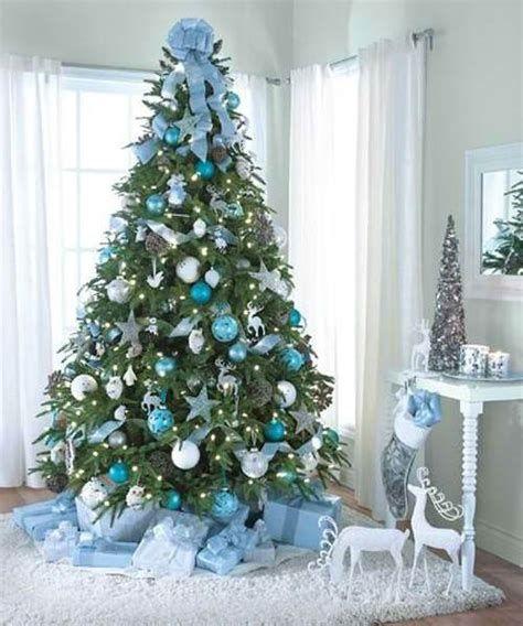 Blue And Silver Christmas Tree Decor Ideas 05