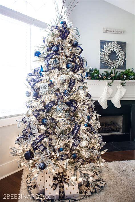 Blue And Silver Christmas Tree Decor Ideas 44