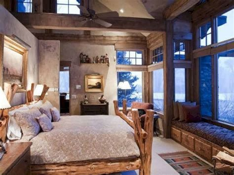 Cozy Rustic Bedroom Interior Designs For This Winter 41
