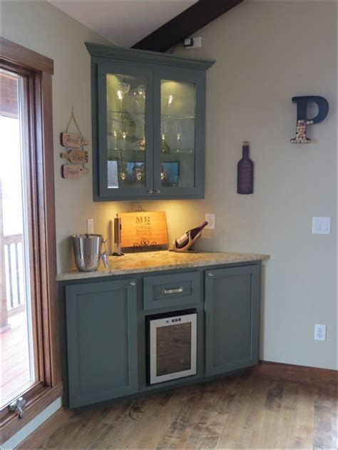 Gorgeous Small Corner Wine Cabinet Ideas For Home Look More Beautiful 40