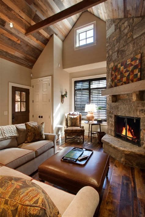 Warm Rustic Family Room Designs For The Winter 03