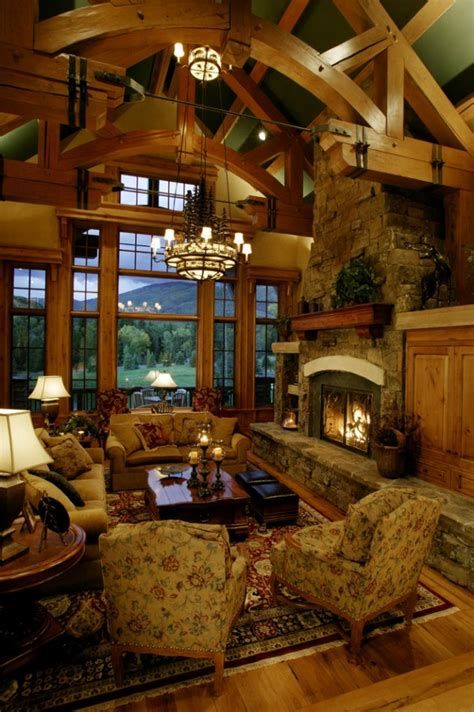Warm Rustic Family Room Designs For The Winter 17