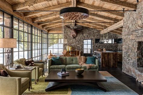 Warm Rustic Family Room Designs For The Winter 19