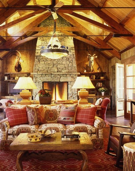 Warm Rustic Family Room Designs For The Winter 21