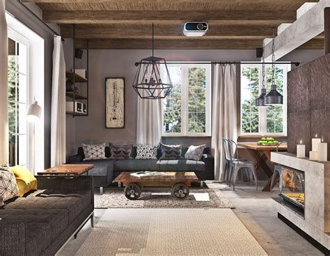 Warm Rustic Family Room Designs For The Winter 24