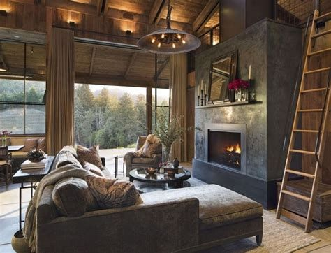 Warm Rustic Family Room Designs For The Winter 26