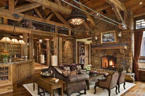 Warm Rustic Family Room Designs For The Winter 27