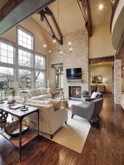 Warm Rustic Family Room Designs For The Winter 28