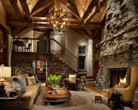 Warm Rustic Family Room Designs For The Winter 29