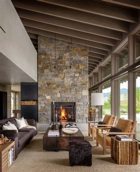 Warm Rustic Family Room Designs For The Winter 30