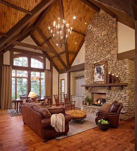 Warm Rustic Family Room Designs For The Winter 31