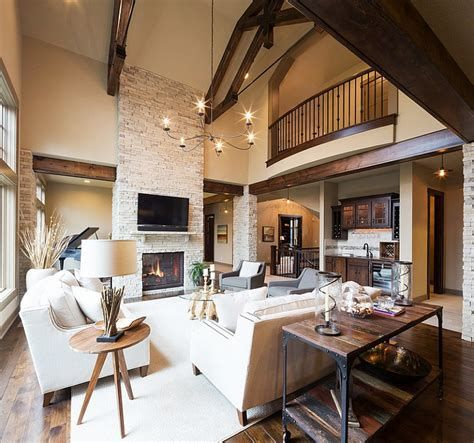 Warm Rustic Family Room Designs For The Winter 32
