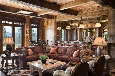 Warm Rustic Family Room Designs For The Winter 33