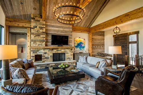 Warm Rustic Family Room Designs For The Winter 36