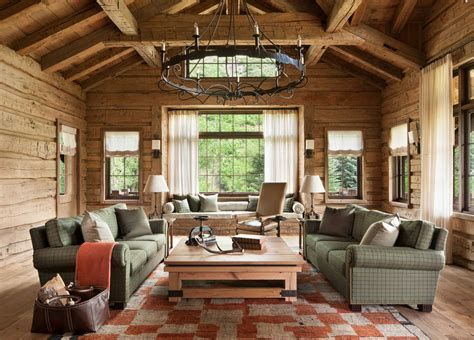 Warm Rustic Family Room Designs For The Winter 37