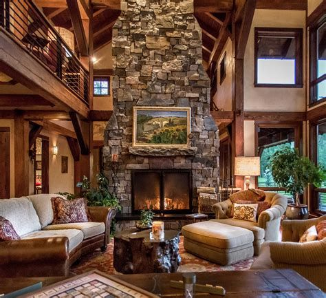 Warm Rustic Family Room Designs For The Winter 41