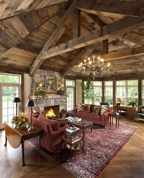 Warm Rustic Family Room Designs For The Winter 43