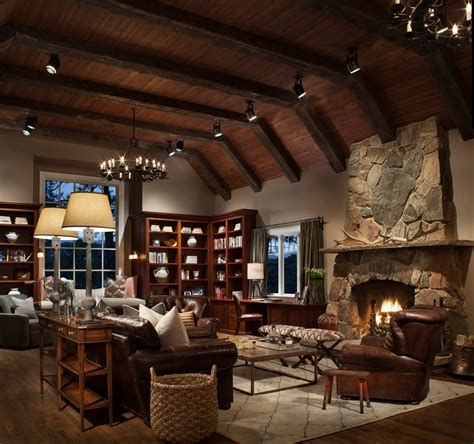 Warm Rustic Family Room Designs For The Winter 44