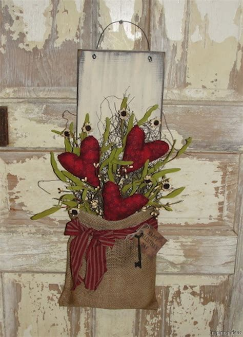 Awesome Burlap Valentine Decorations Ideas 19