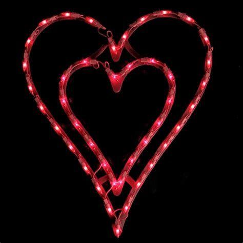 Comfy Lighted Valentine Window Decorations Ideas 40